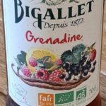Sirop Bigallet Bio Grenadine